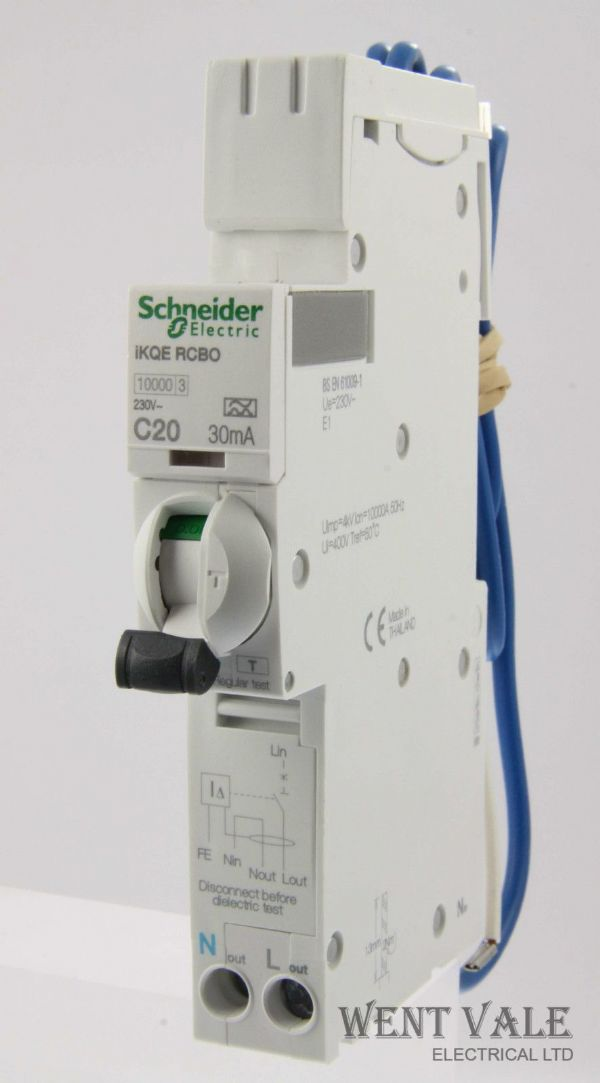 Schneider IKQE - SEE120C03 - 20a 30mA Type C Single Pole RCBO Latest Model New